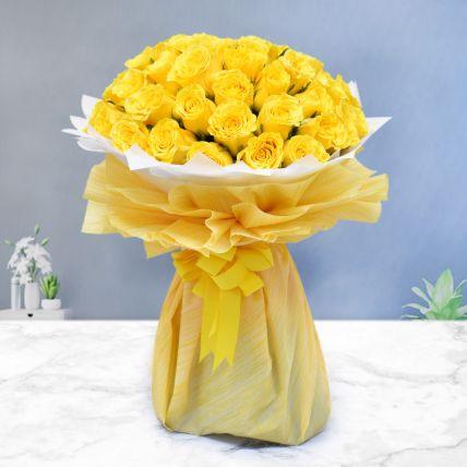 Majestic 50 Yellow Roses