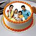 Sizzling Round Personalized Cake 3 Kg Truffle Cake