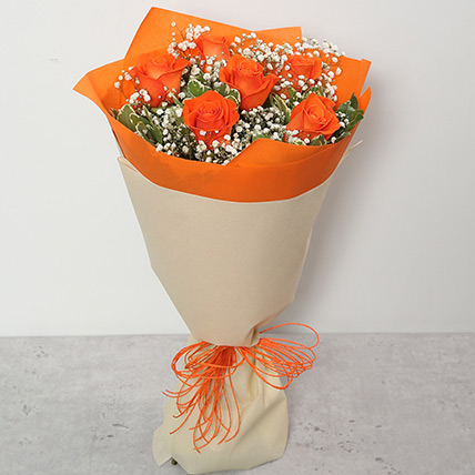 Bouquet Of Orange Roses SA