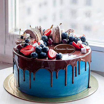 Chocolate Fruit Cake For Ramadan