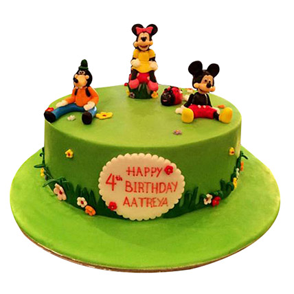 Mickey And Family Cake