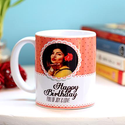 Personalised Joy And Love Birthday Mug