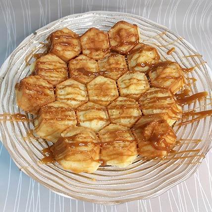 Delicate Honey Cake With Honey Caramel Sauce