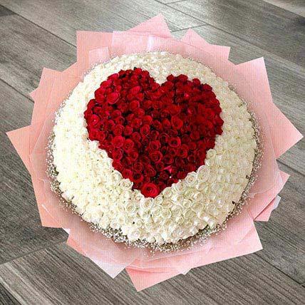 Heart Arrangement Of 400 Roses