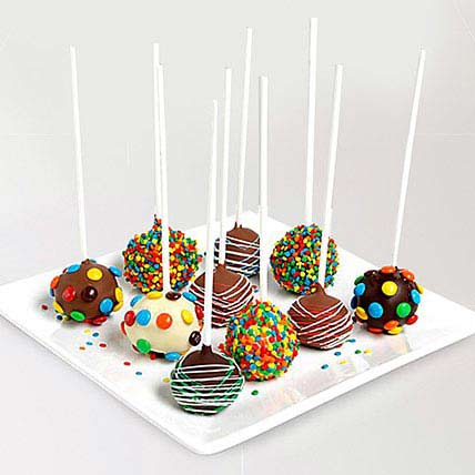 Belgian Chocolate Birthday Cake Pops