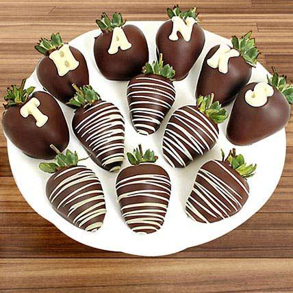 Thanks Belgian Chocolate Strawberries