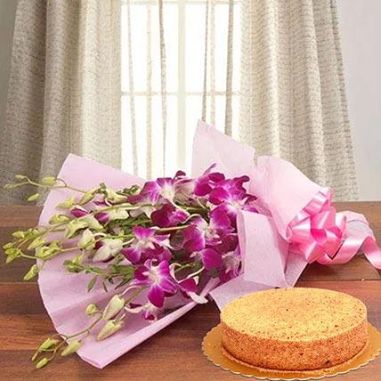 Purple Orchids & Honey Cake 8 Portions