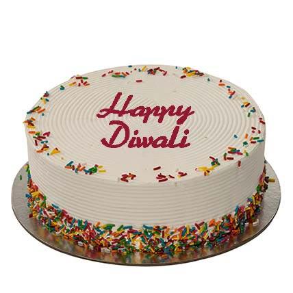 1Kg Rainbow Diwali Cake