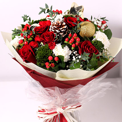 Christmas Themed Floral Bouquet