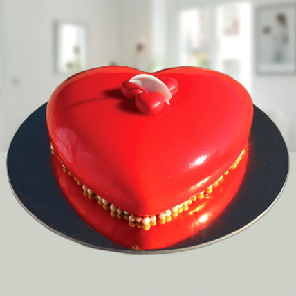 Valentines Red Heart Cake