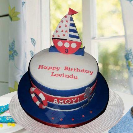 Ahoy Captain Theme Cake 12 Portions Vanilla