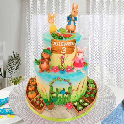 Peter Rabbit Theme Cake 12 Portions Chocolate