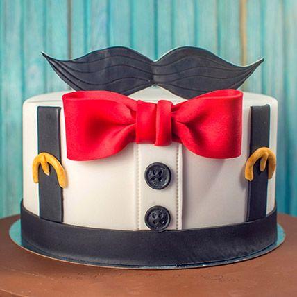 The Gentleman Theme Cake 16 Portions Chocolate