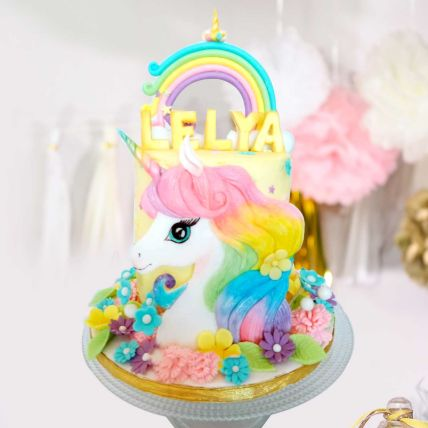 Unicorn Theme Cake 16 Portions Vanilla