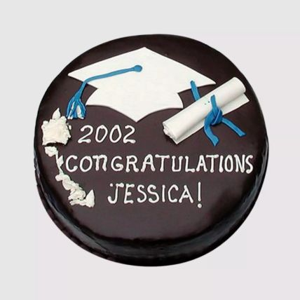 Round Graduation Chocolate Cake Half Kg