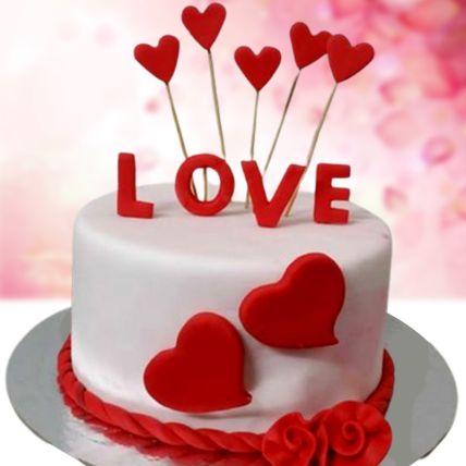 Love Special Chocolate Fondant Cake 1 Kg