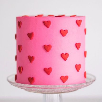 Sultry Red Hearts Chocolate Cake 2 Kg