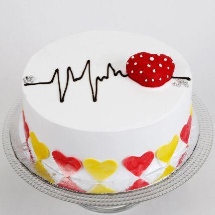Heart Beat Chocolate Cake Half Kg