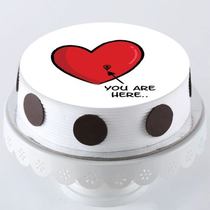 In My Heart Photo Cake 1 Kg