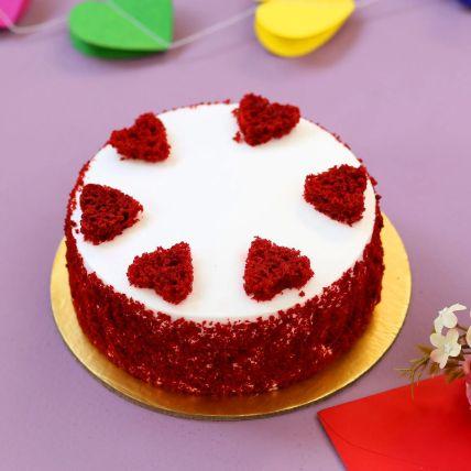 Red Hearts Velvet Cake Half Kg