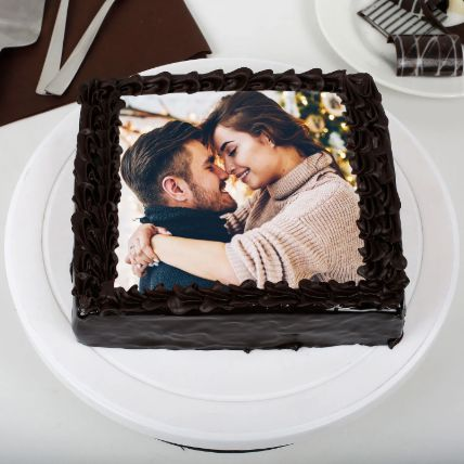 Rich Chocolate Photo Cake 1 Kg