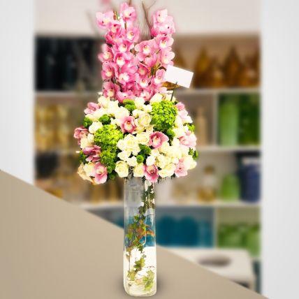 Beautiful Mixed Flowers Vase Arrangement