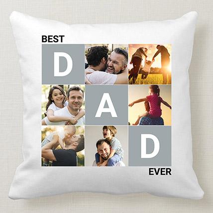 Best Dad White Cushion