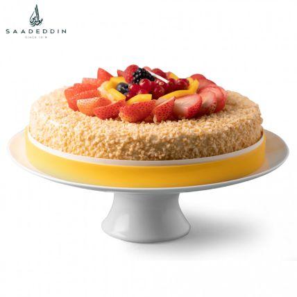 Mouth Watering Cream Fruit Cake