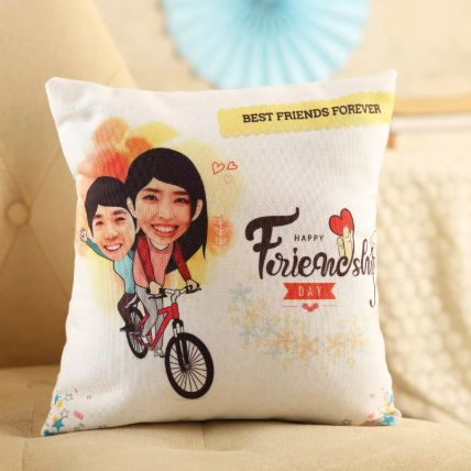 Personalised Friends On Cycle Cushion