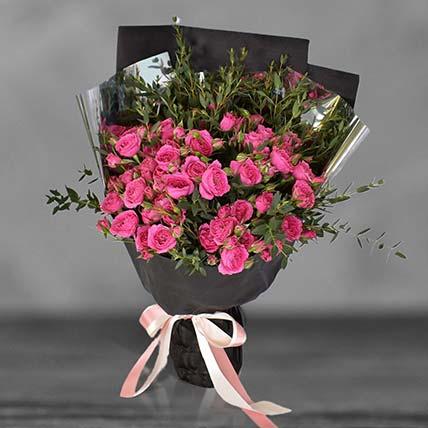 Cherry Blossom Sprayed Rose Bouquet