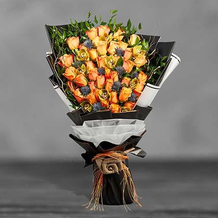 Grand Orange Roses Bouquet