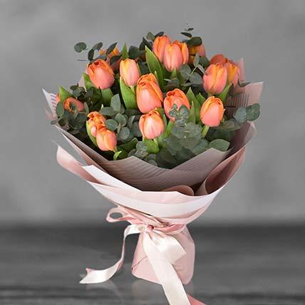 Orange Tulip Bouqet