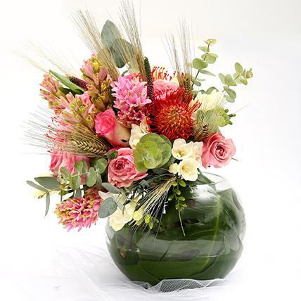 Mixed Roses and Hyacinth Vivid Flowers SG