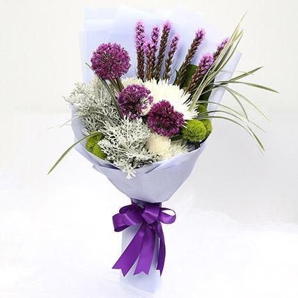 Enchanting Delistar and Liatris Mixed Bouquet SG