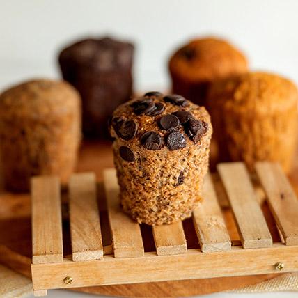 Wholemeal Banana Chocolate Muffin