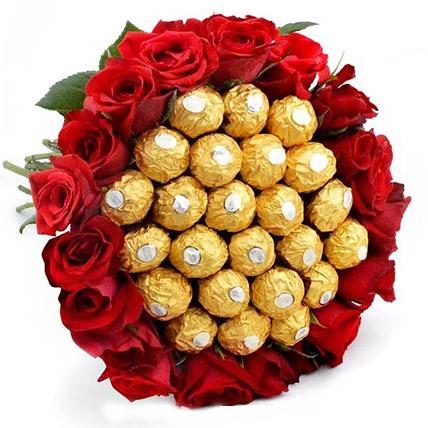 Big Bunch of Chocolates N Roses