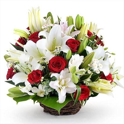 Lovely Basket Of Flowers