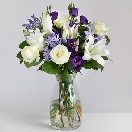 Beautiful Blue Floral Arrangement