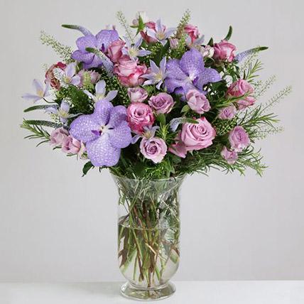 Willd Lilac Vase Arrangement