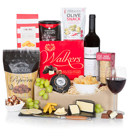 Gourmet Cheese And Wine Classy Tray