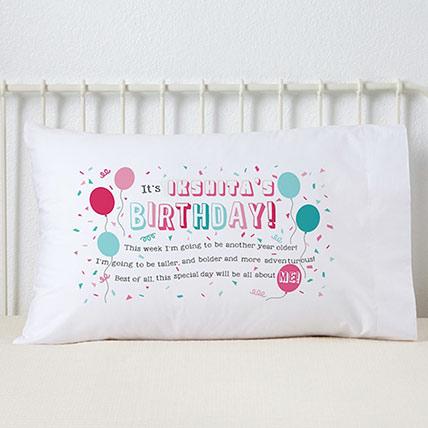 Birthday Girl Personalized Pillowcase