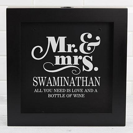 Personalized Wine Cork Box