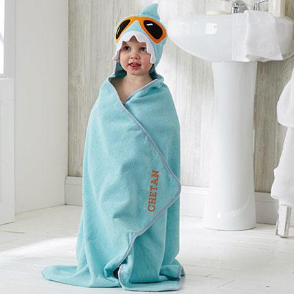 Shark Kids' Hooded Bath Towel