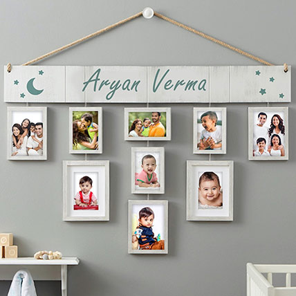 Wallverbs Baby Love Personalized Hanging Picture Frame Set