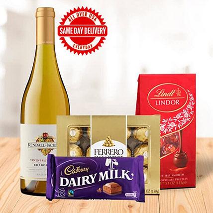 White Wine & Mixed Chocolates