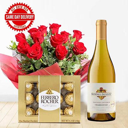 White Wine Roses & Choco