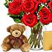 Rose Chocolates & Teddy